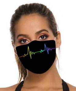 LGBT facemask heartbeat