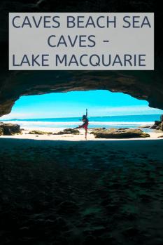 caves beach sea caves Lake Macquarie