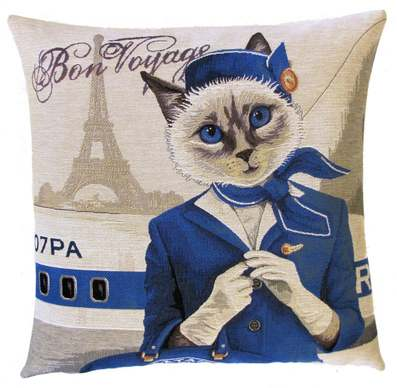 flight attendant pillow cover cat