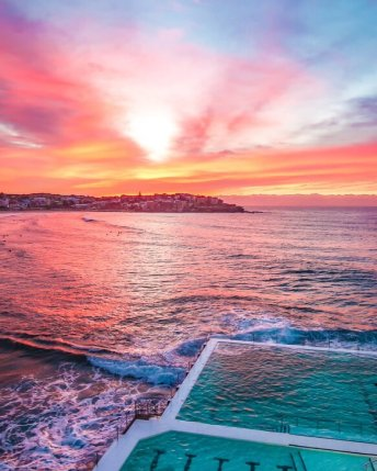 bondi icebergs sunrise print photography