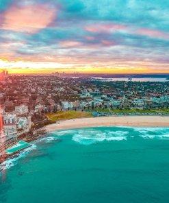 Bondi Beach aerial drone photography Sydney