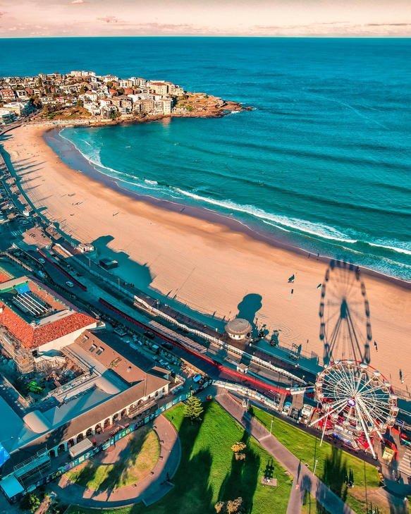 bondi fest aerial beach photography Sydney