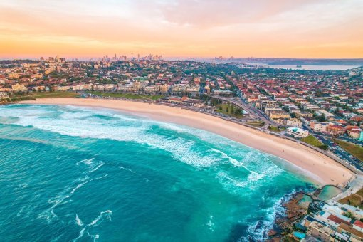 Sunset Bondi Beach Sydney Australia