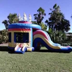 Birthday Cake Bounce House w/ Water Slide