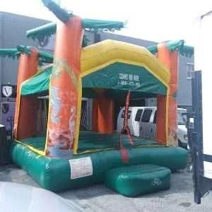 Tropical Zoo Bounce House