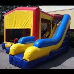 Yellow Bounce House w/ Water Slide