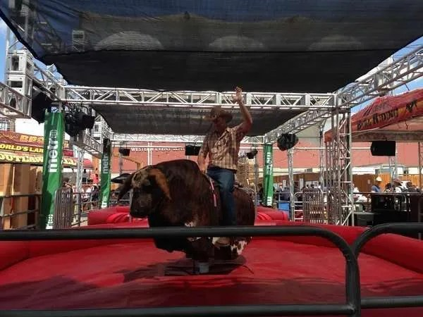 Western themed parties-mechanical bull riding