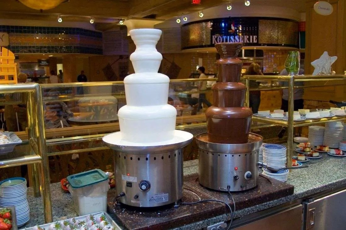 A beautiful Chocolate Fondue Fountain Rental