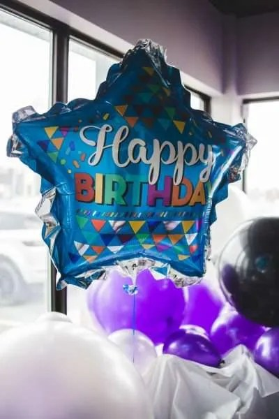 Happy birthday balloons for party