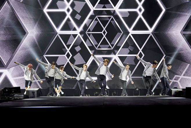 EXO dancing onstage