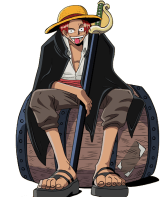 one piece red haired pirate
