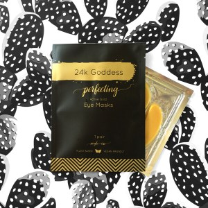 24kgoddess active gold eye mask single pack