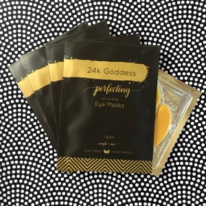 24kgoddess active gold eye mask four pack