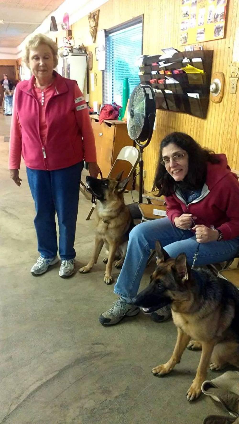 Carolyn with Kali and Bernie with Klara.