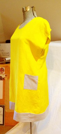 yellow dress finished side