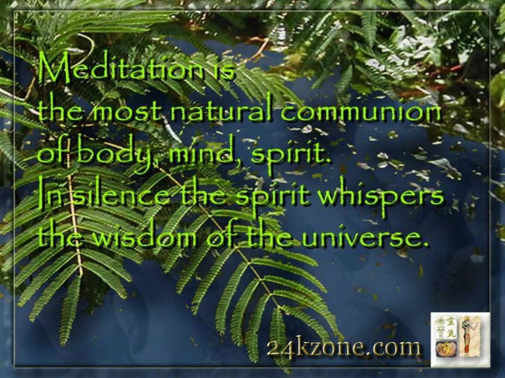 Meditation is the most natural communion ...