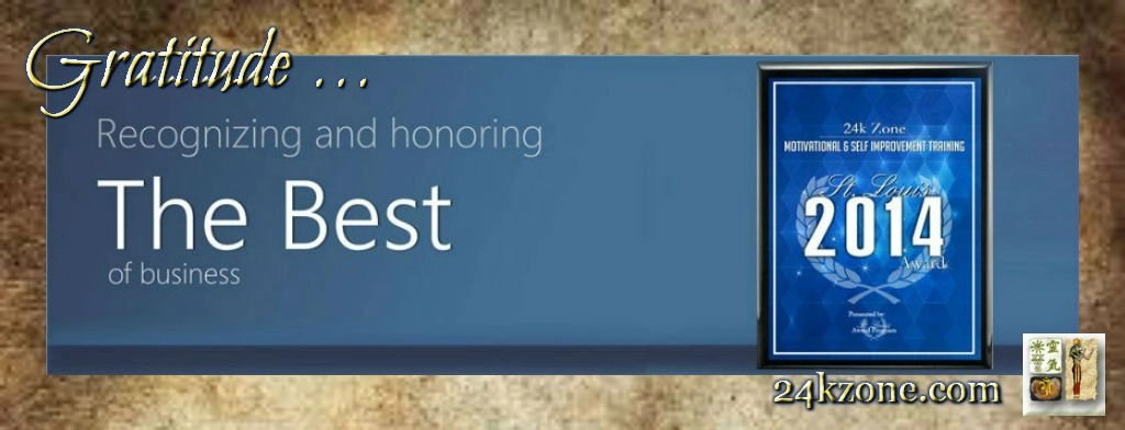 Gratitude for 2014 Award