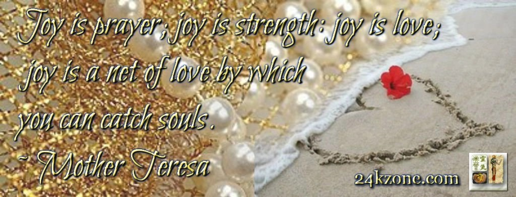 Joy is prayer