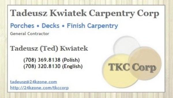 TKC Corp bus card image