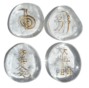 Reiki Symbols on Quartz Crystals