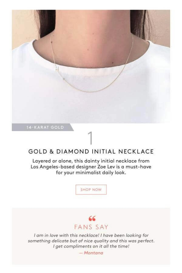 Gold & Diamond Initial Necklace