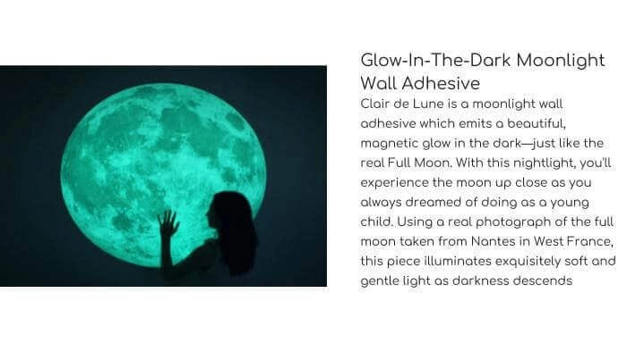 I3LAB Glow-In-The-Dark Moonlight Wall Adhesive