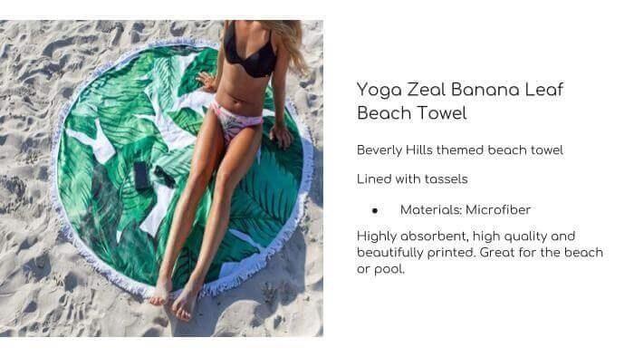 YOGA ZEAL Banana Leaf Beach Towel
