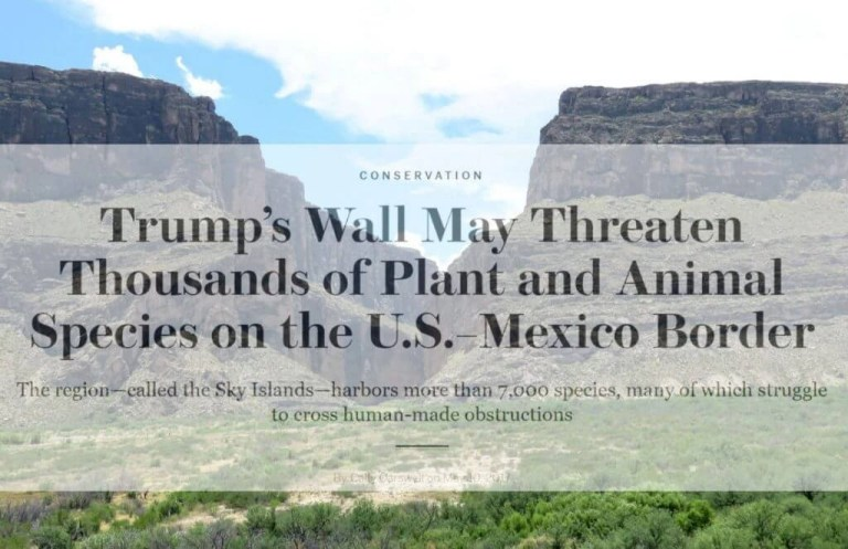 Trump's Wall Threatens Ecosystem