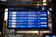 Departures: Only trains inner Germany.