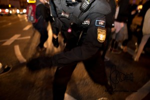 pegida 210915 8 - Police officer sprinting towards me.