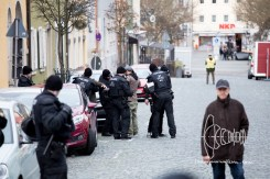 Every activist that wants to attend counter-nazi demonstration is searched.