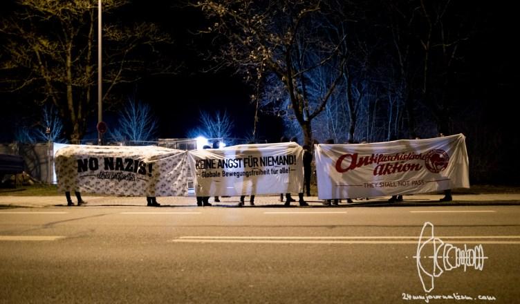 sponti refugeeunterkunft milbertshofen 20160306 1 - Anti-Racist Spontaneous Demonstration in Milbersthofen after Arson
