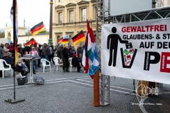 PEGIDA Munich removed swastika-in-trashcan from Frontbanner