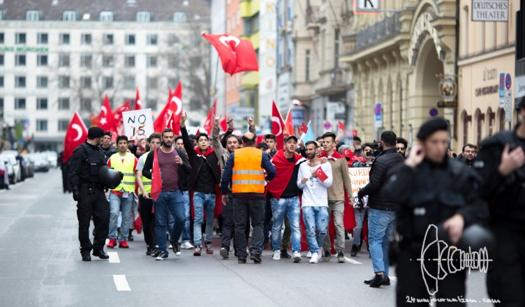turkish nationalists 20160410 17 - Clashes erupt as Turkish nationalists rally for Peace through Munich