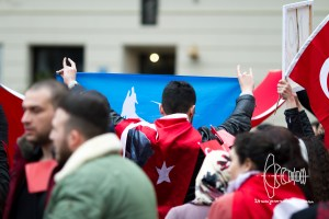 turkish nationalists 20160410 18 - Clashes erupt as Turkish nationalists rally for Peace in Munich