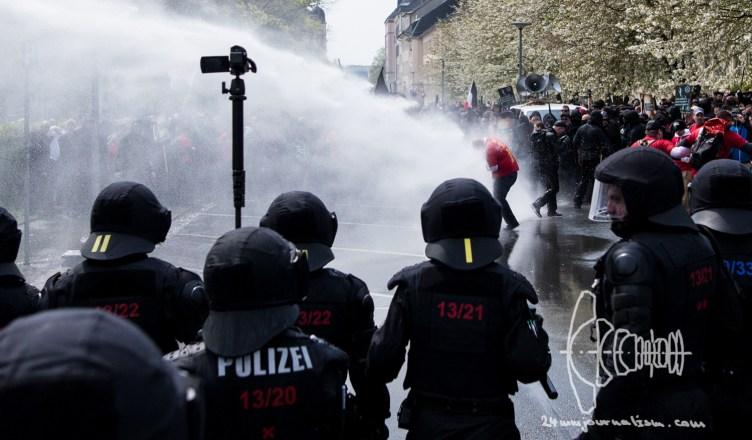 plauen 20160501 13 - Neonazi demonstration in Plauen errupts in heavy clashes on Mayday