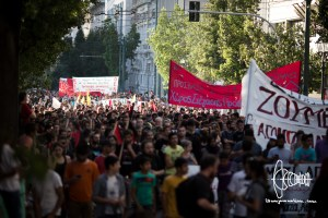 refugee solidarity demo 20160616 12 - Refugee and supporters demonstrate through Athens