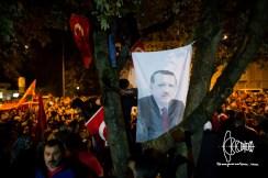 Flag with Erdogan.
