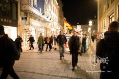 PEGIDA Munich marches - Neonazis mock victims of November progroms