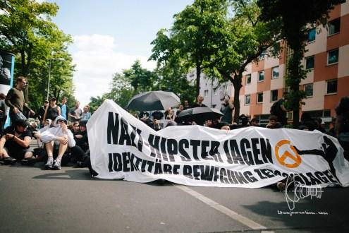 Antifascists block road