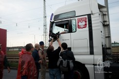 TV ream interviews stopped trucker