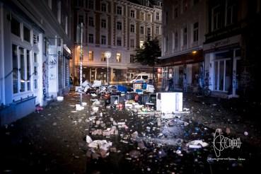 Streetwere heavy riots happened