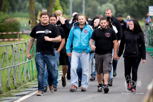"Participants from TSV 1860 Fanclub ""Lahmer Winkel"" arrive"