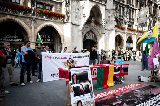Kurdisch community of Munich remembers killed civilians in Kobane - 1