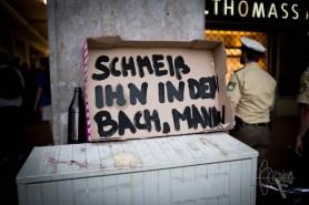 Signs against Bachmann.