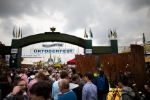 Main entrance of the Oktoberfest.