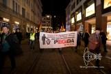 PEGIDA walking through old-town Munich.