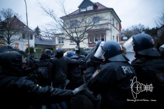 Police clashes with counter protestors.