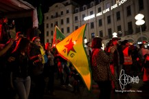 Some carry YPG flags