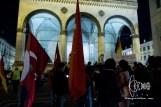 Turkish nationalist demonstration whilst Kurdish community holds New-Year festivities